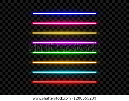 realistic led neon tube light