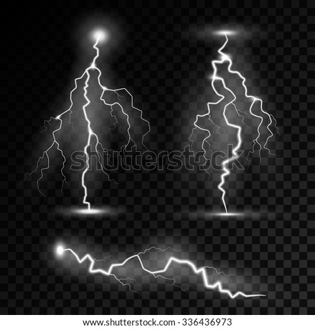 realistic lightning bolts with