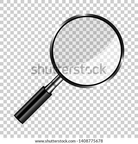 realistic loupe sign icon in