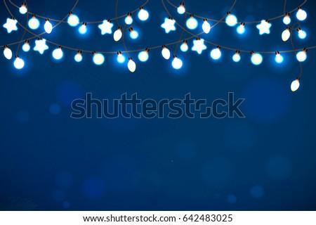realistic luminous garland