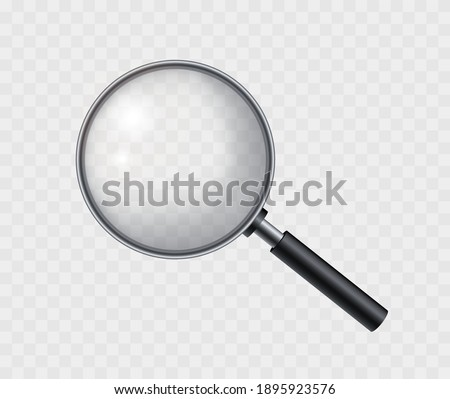 Realistic magnifying glass. Magnifying tool with shadow. Loupe for magnify on a transparent background. Photo stock ©