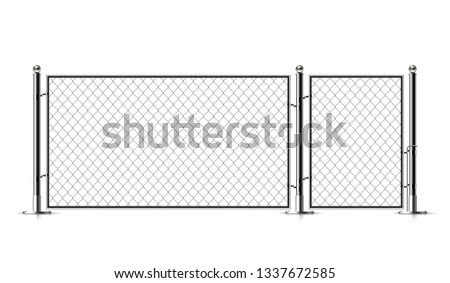 realistic metal chain link