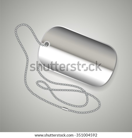 realistic metal dog tag and