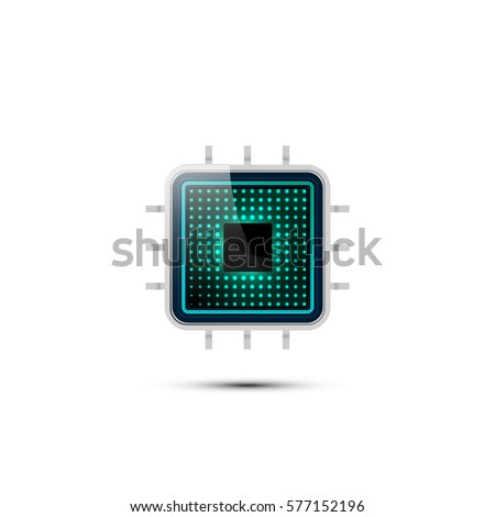 realistic microchip vector