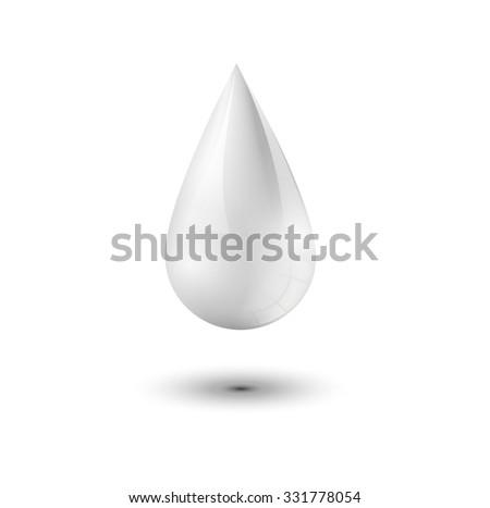 realistic milk drop food icon