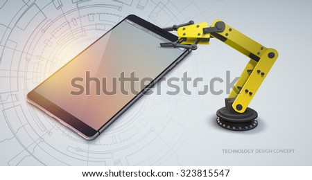 realistic mobile device with a