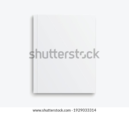Realistic mockups book: Blank cover book with shadows isolated on light background. Vector illustration EPS10