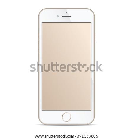 realistic modern smart iphon