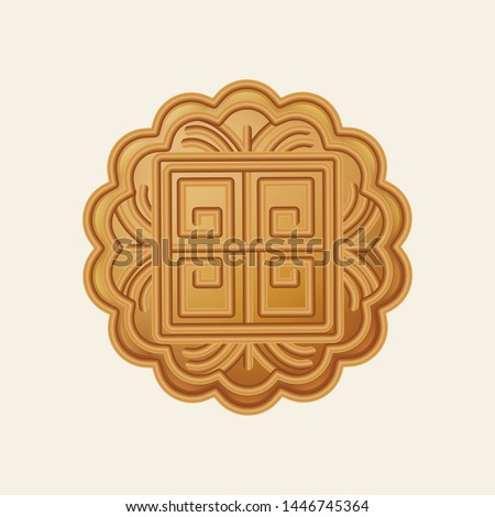 realistic mooncake vector