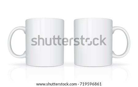 Realistic Mug Mock Up Vector Template Easy To Change Colors