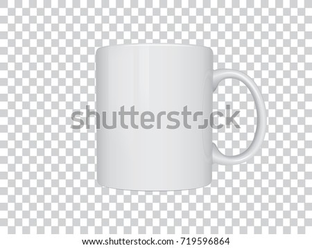 Realistic mug mock up vector template Easy to change colors #719596864