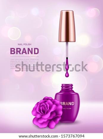 realistic nail polish bottle