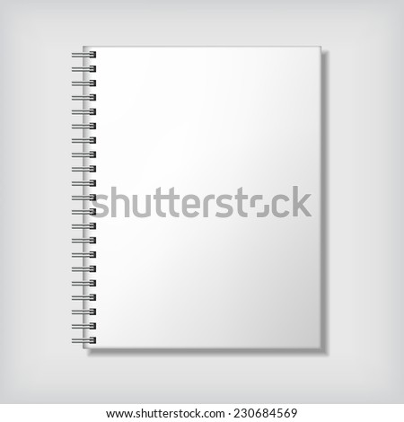 Realistic notebook mock up