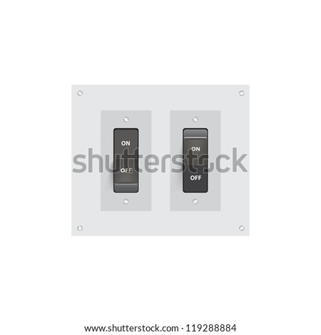 Realistic On-Off switch Vector Illustration. (Eps10)
