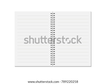 note diary mockup design template - Download Free Vector Art, Stock ...
