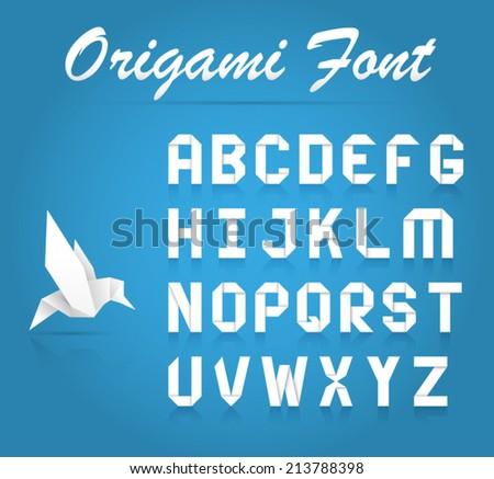 Origami Alphabet Vectors Download Free Vector Art Stock Graphics