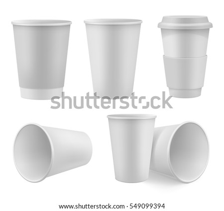 realistic paper coffee cup mock