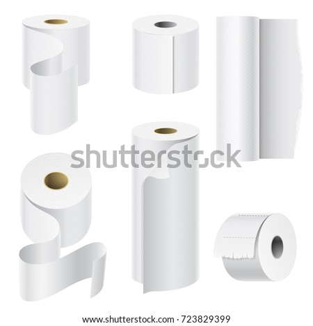 realistic paper roll mock up