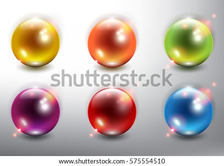 realistic pearls set of 6