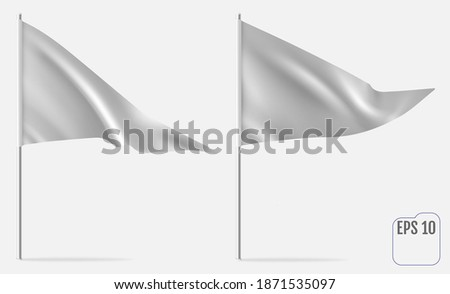 Realistic Pennant Template. Vector triangle flag mockup Stockfoto ©