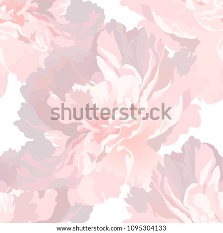 realistic peony flower on a