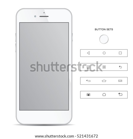 Realistic phone isolated