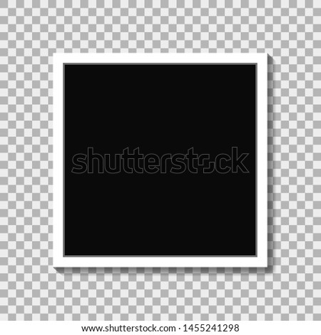 Realistic photo frame in mockup style on isolated background. White photo frame with emty place.Empty photo card. Blank photo frame. vector eps10
