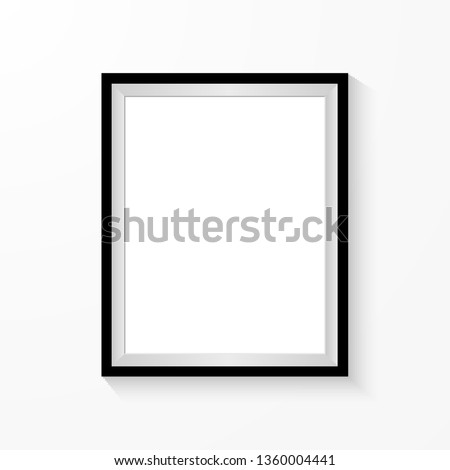 Realistic picture frame isolated on white background