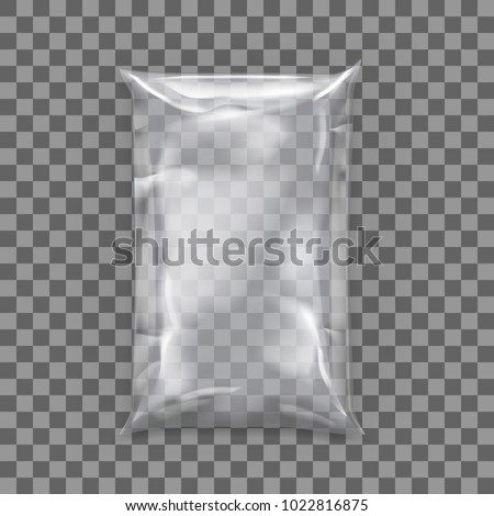 Realistic Pillow Package For Food. Polyethylene Packing. Template For Branding. EPS10 Vector
