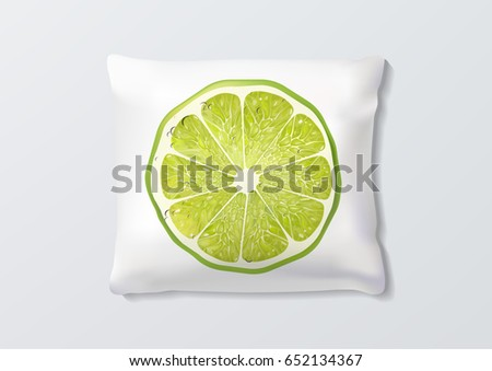 realistic pillows with lime