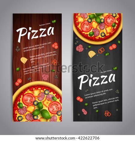 realistic pizza pizzeria flyer