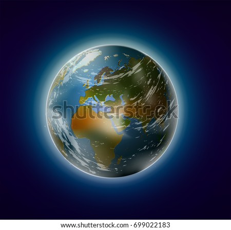 realistic planet earth from