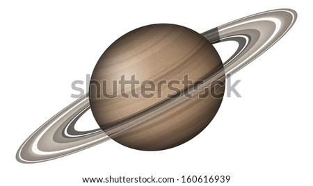 Realistic planet Saturn isolated on white background. Elements of this image furnished by NASA (http://solarsystem.nasa.gov). Eps10, contains transparencies. Vector
