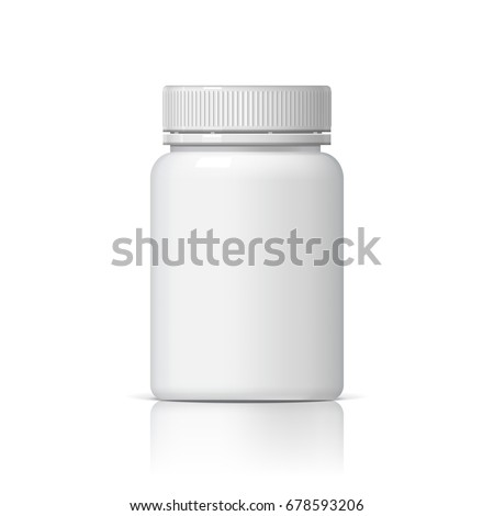Realistic plastic bottle. Mock Up Template. Vector illustration
