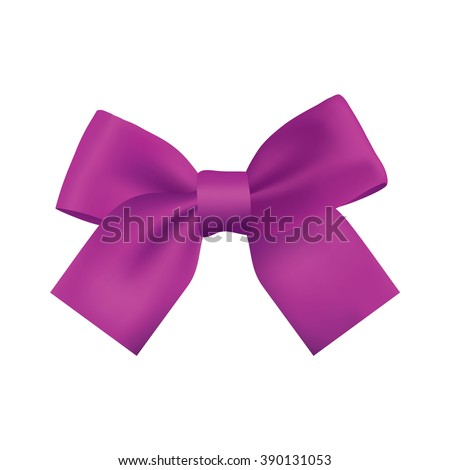 realistic purple gift ribbon