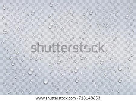 realistic rain drops on the