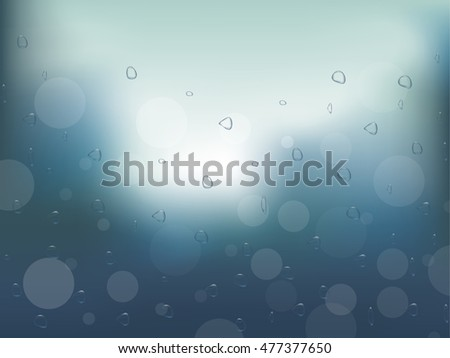 realistic raindrops on the