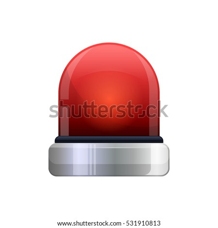 realistic red flashing
