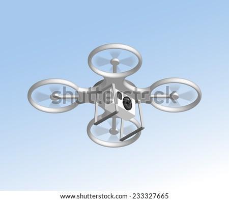 realistic remote air drone