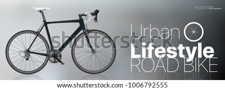 realistic road bike black