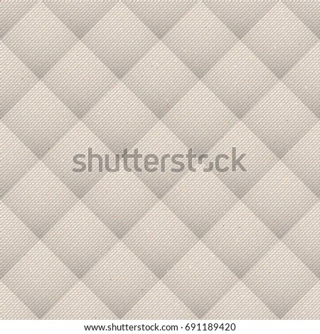 Realistic seamless cotton upholstery sailcloth texture. Abstract rough sackcloth fabric. Beige linen canvas texture. Can be used in web design and graphic design.