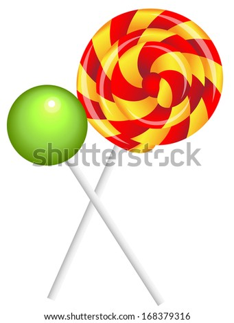 realistic shiny lollipops