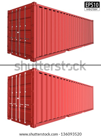 realistic shipping container