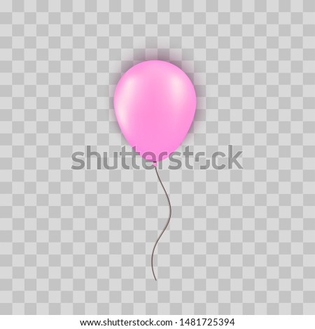 realistic silver pink balloon