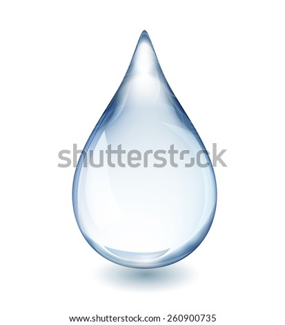 realistic single water drop