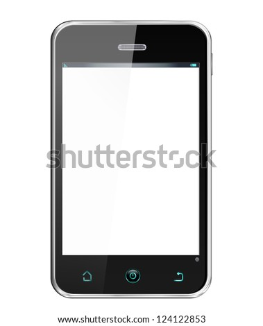 Realistic Smartphone -  cellphone in iphon style, vector layered and with a separate layer to easily add your own screen image