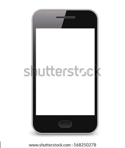 Realistic smartphone isolate background - Stock Vector.