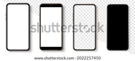 Realistic smartphone mockup set. Mockup phone for visual ui app demonstration. Vector mobile set device concept. Detailed Mockup Smartphone