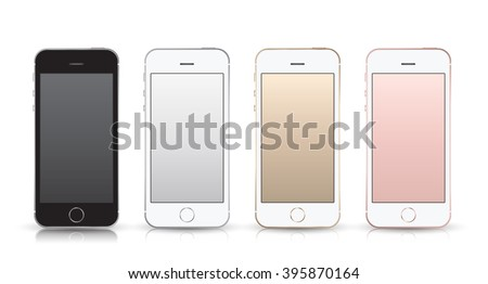 realistic smartphone set iphon