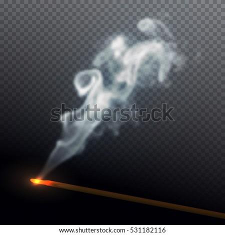 realistic smoke from aroma